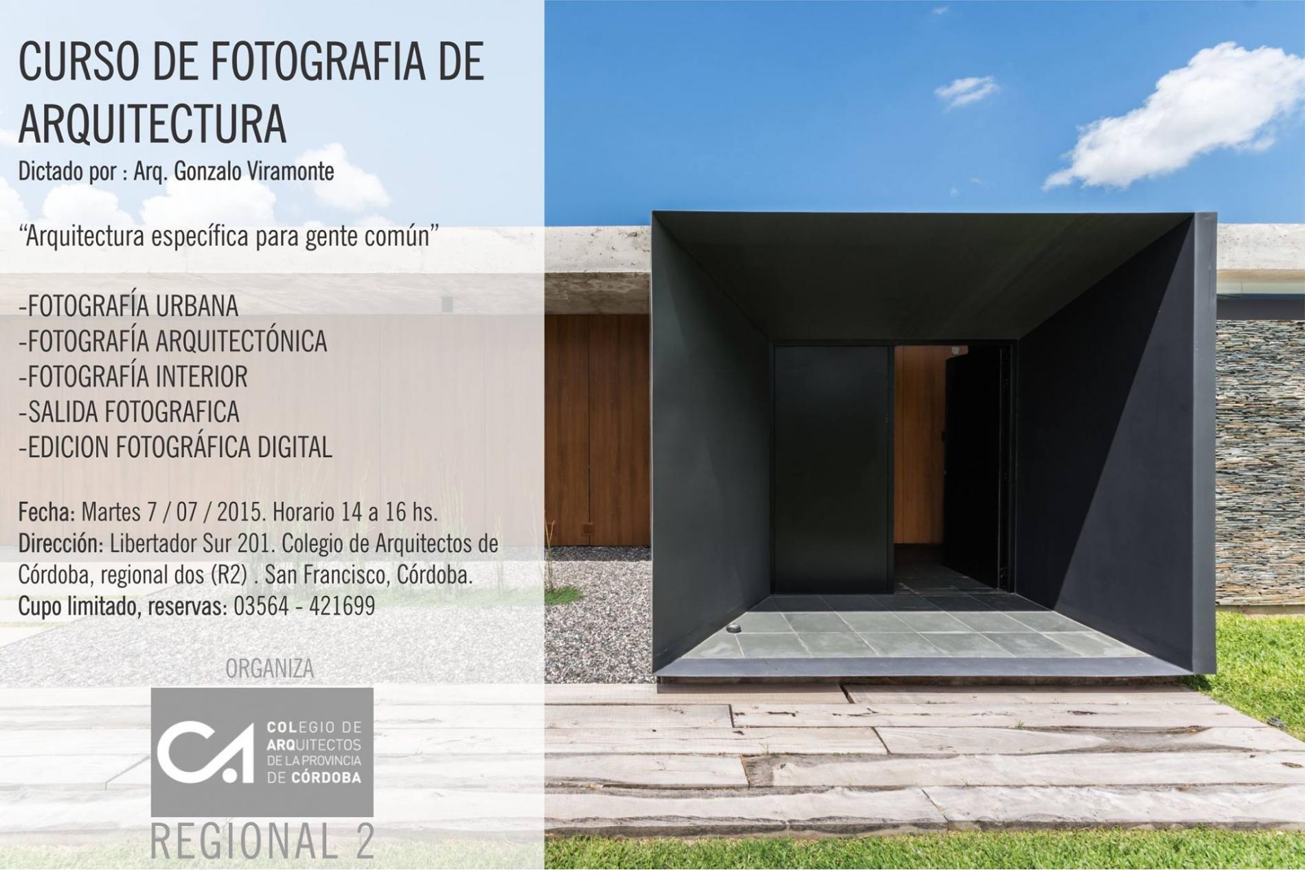 Colegio de arquitectos de la provincia de c rdoba for Cursos para arquitectos